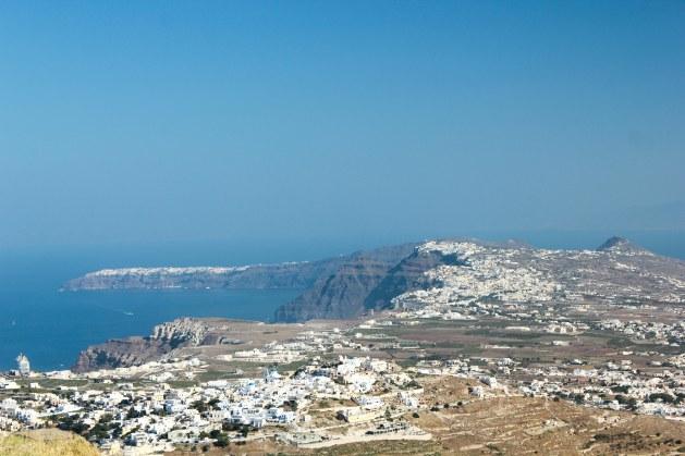 Highest point of Santorini