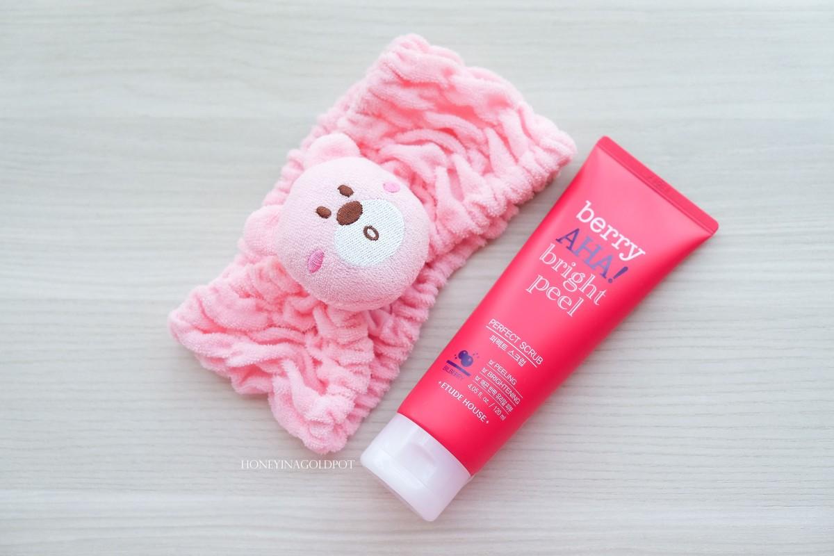 Review Etude House Berry Aha Bright Peel Perfect Scrub Biore Bubble Bundle Care Honeyinagoldpot